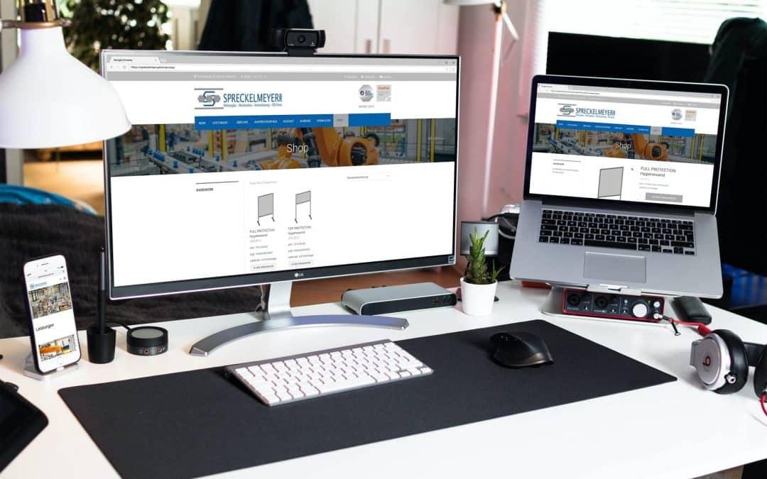 Webshop für die Firma Spreckelmeyer GmbH | corona Protection